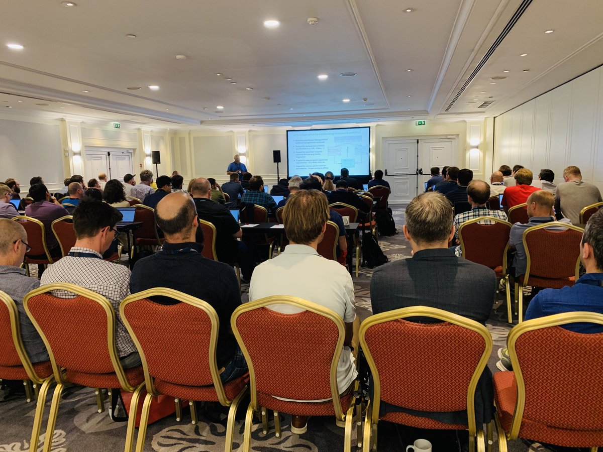 Workshop on 'Deploying reproducible containers & workflows across cloud environments' is proving very popular. Improving accessibility and transfer of services, tools & workflows for the life science community. #ELIXIR19 #datasharing #CloudComputing #HybridCloud