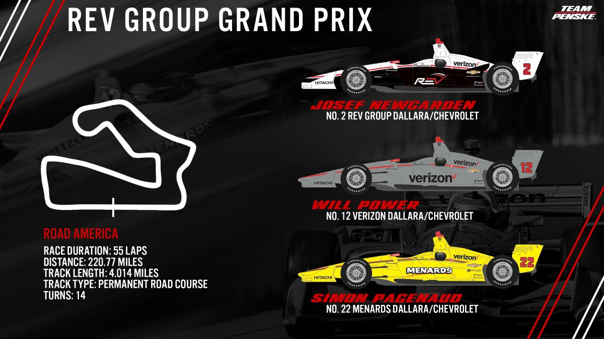 Back to road courses we go. 🙌 Whos ready for the #REVGroupGP this weekend at @roadamerica? #INDYCAR