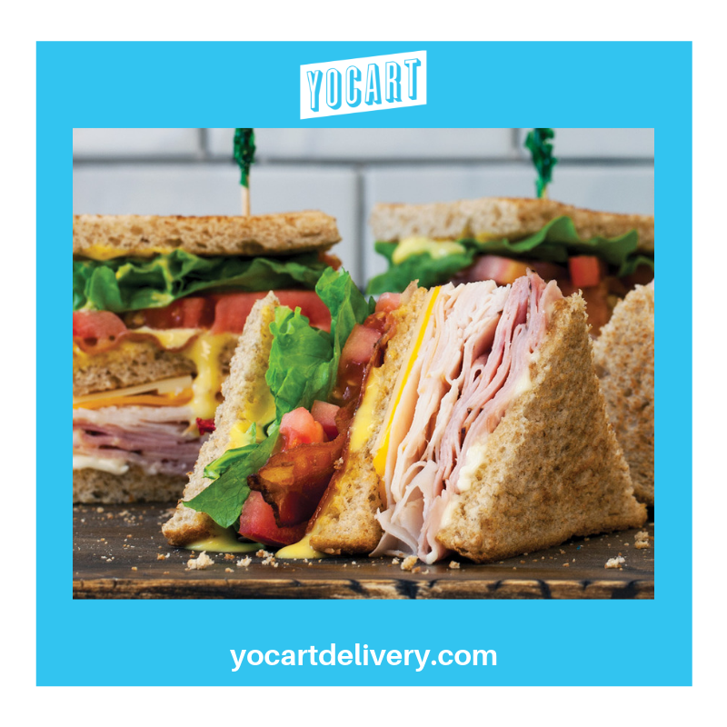 What's for lunch? Get McAlister's club sandwich delivered! #yocart #lunchdelivered #tuscaloosa
