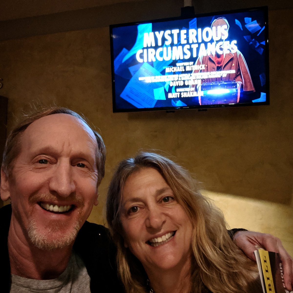 ...with @pamelacedar at last night's #amazing #performance of #MysteriousCircumstancesGP @geffenplayhouse. Another #brilliant #geffen #playhouse  #production with an #outstanding #cast #script #direction #setdesign and #story If you love a great #mystery GO!!