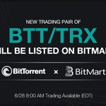 Image for the Tweet beginning: 🎉BTT/TRX will be listed on