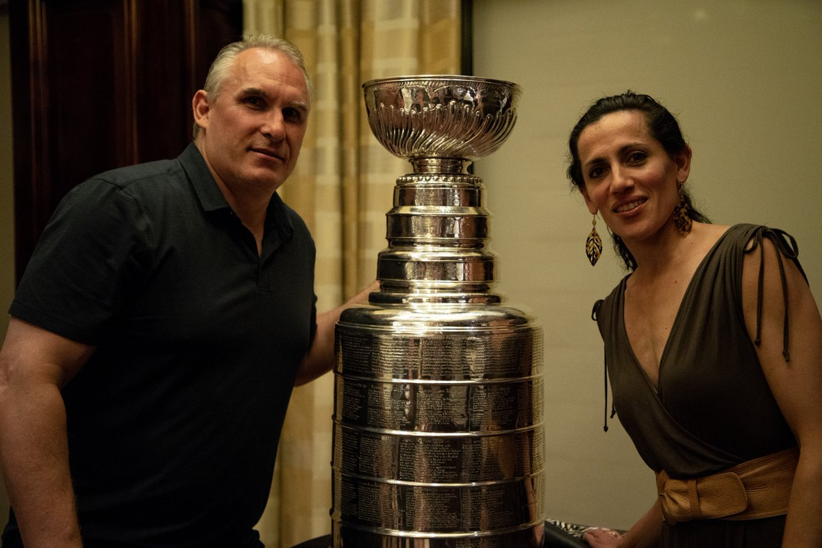 Good luck to Craig Berube and his girlfriend, Dominique Pino, who are looking to bring home the Jack Adams Award tonight. Go get 'em, Chief! #stlblues #NHLAwards
