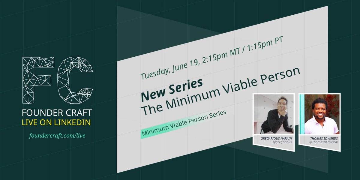 Join us to discuss life-work balance with our Minimum Viable Person Founder Craft series starting right now!  https://www.linkedin.com/video/live/urn:li:activity:6547209743713349633/…  #founders #startups #work #WorkLifeBalance