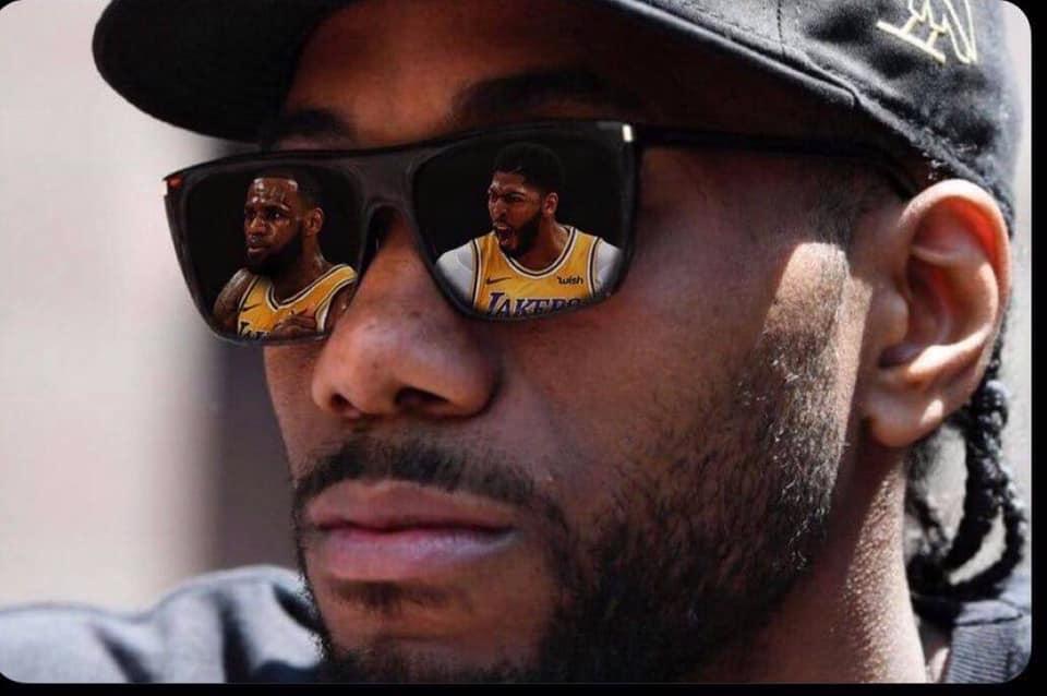 Kawhi looking at L.A. like...  #Lakers #LeBron #LeBronJames #KingJames #LakersNation #LakeShow #KawhiLeonard