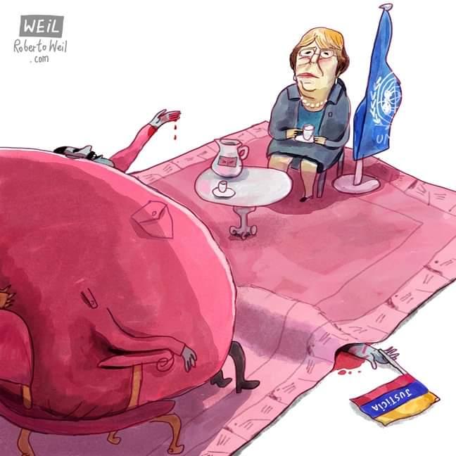 La caricatura de Weill para la historia