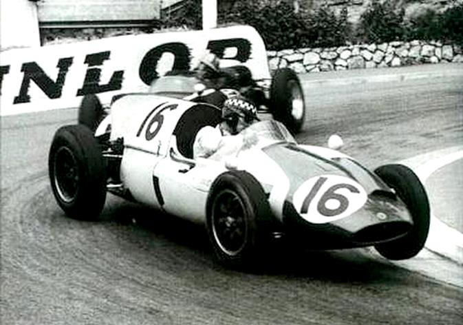 Chris Bristow 🇬🇧 in his Yeoman Credit Racing Cooper T51 at Monaco. #F1 1960 #MonacoGP https://t.co/7R9f1388nC
