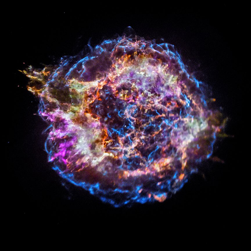 "& here is another recent paper led by @kimberlykowal on ""Walking Through an Exploded Star: Rendering Supernova Remnant Cassiopeia A into Virtual Reality"" arxiv.org/abs/1812.06237 with our beautiful @chandraxray image."