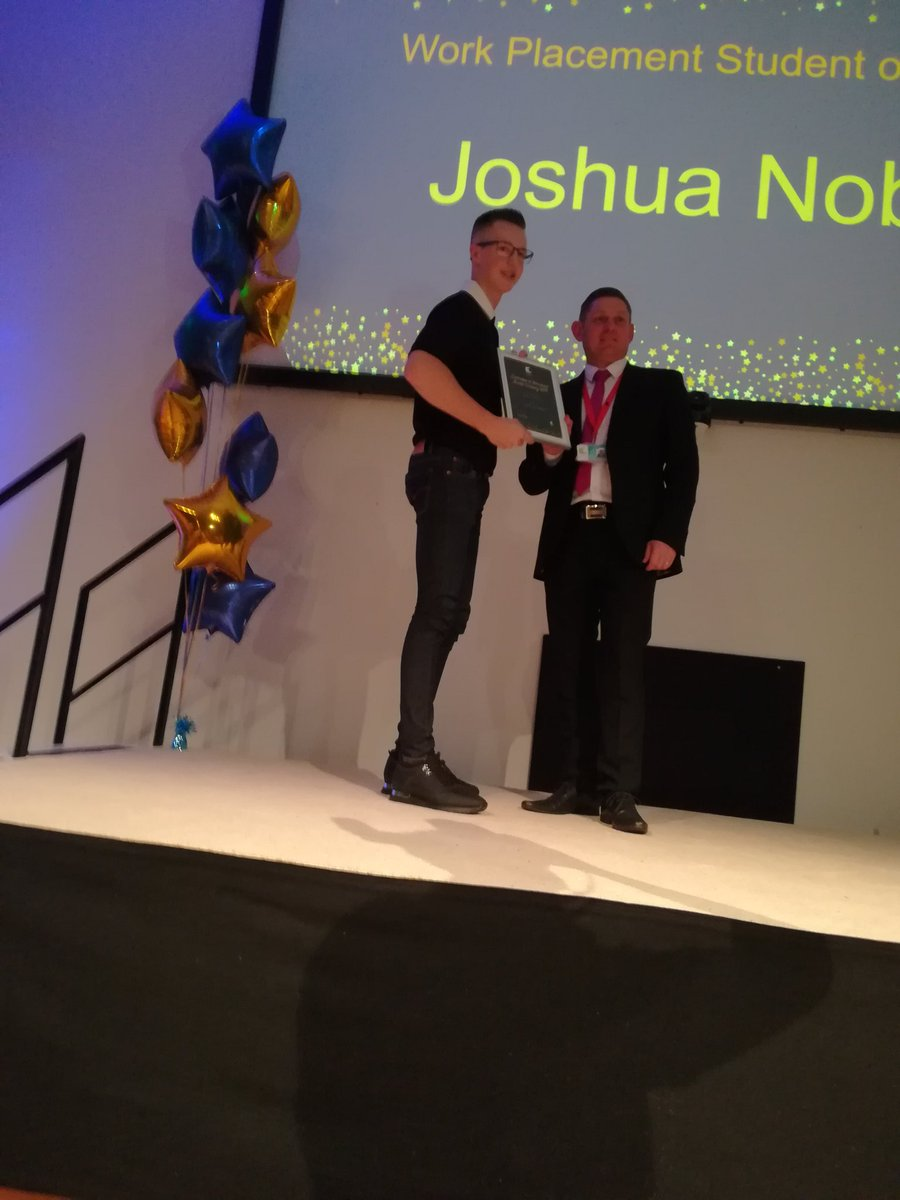 Joshua is our winner of the Work Placement Student of the Year award. #Celebration #awards #college #Redcar