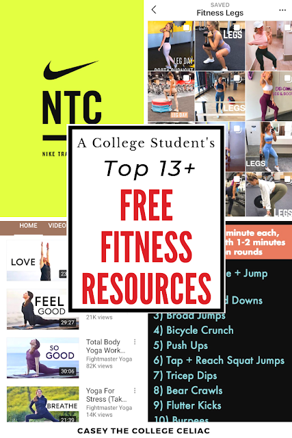 A #College Student's Favorite Free #Fitness Resources (#HealthyLiving) http://trbr.io/LGUNLXy via @CollegeCeliacKC