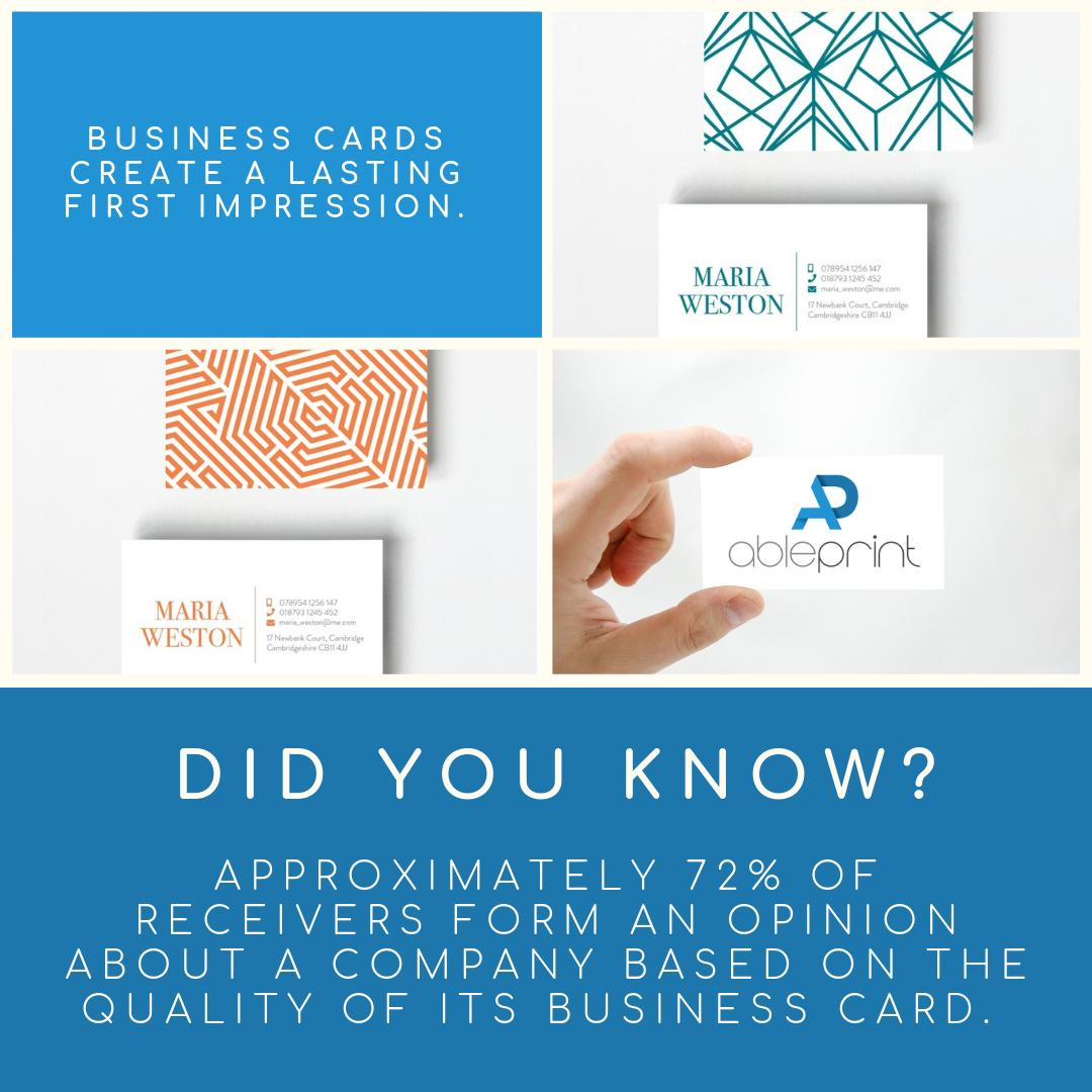 All of our business cards are printed in full colour and on high-quality stock: https://bit.ly/2wRiCsU  #businesscards #branding #logo #design