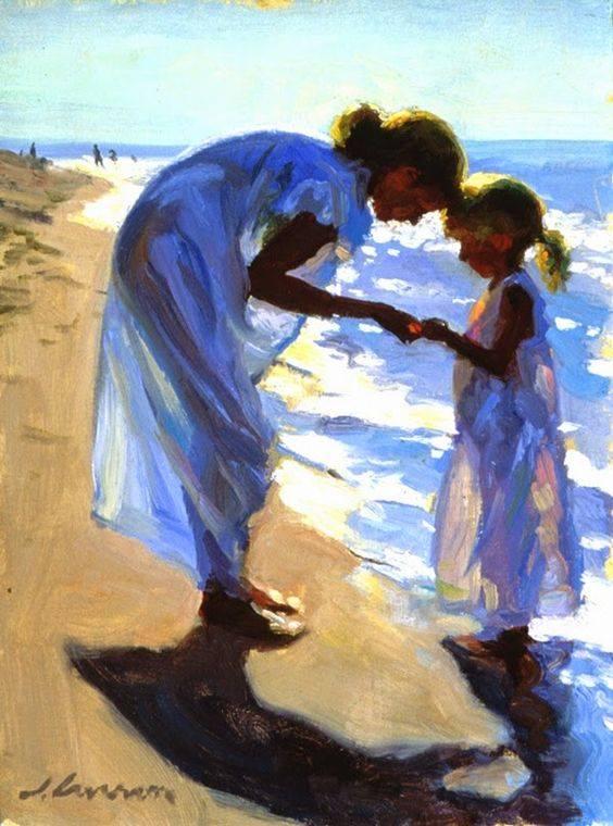 Com un artista pot enlluernar tant amb la seva pintura? Com pot embriagar-nos d'aquesta manera amb la llum? Com pot colpir tant amb uns temes tant domèstics? #jocsdellum #pintura #JeffreyTLarson #BeachTreasures #Patterns #HangingLaundry #still