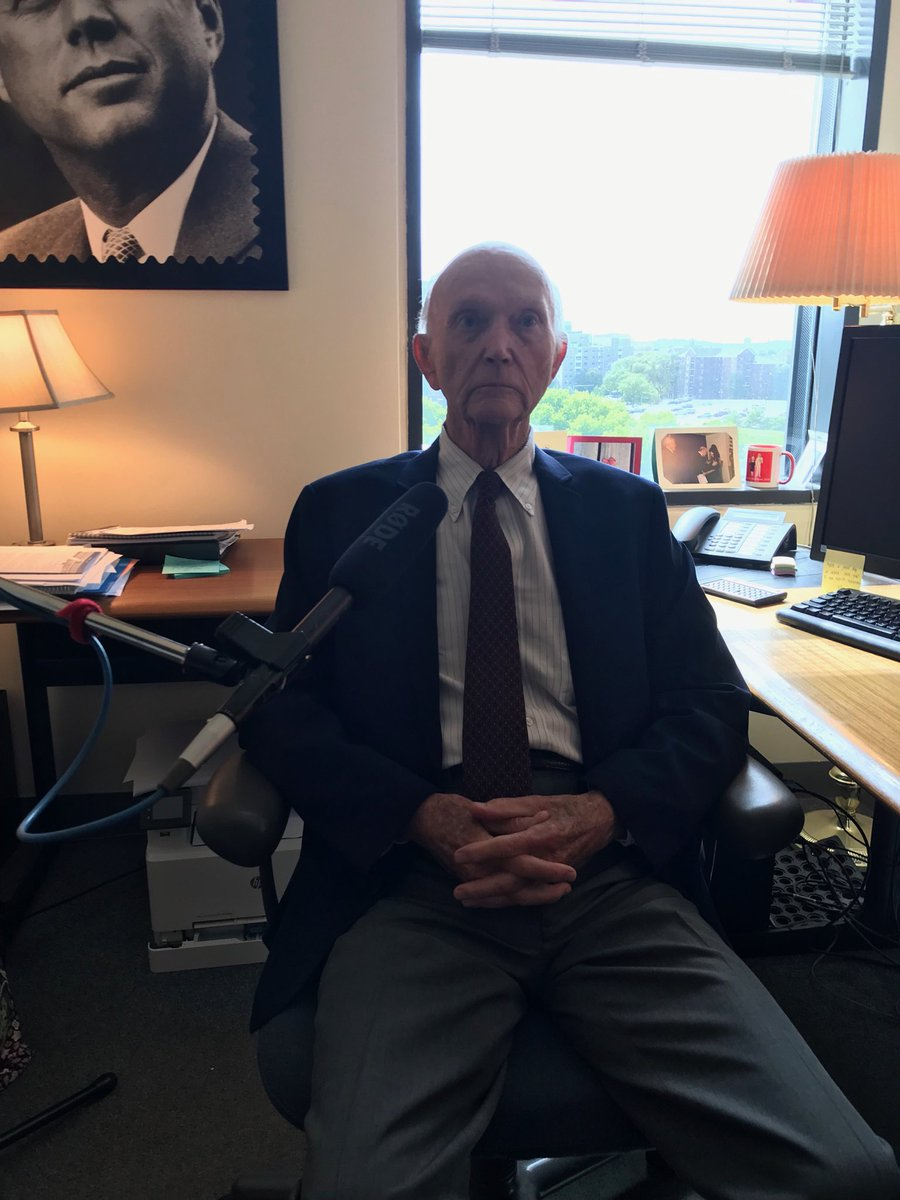 Poor photo of a true hero. Flier, scholar, test pilot, Apollo 11 crew member Michael Collins. 50th anniversary of the moon landing coming up. He is wry, witty, thoughtful. And a beautiful family, too. Thanks for making time for us.