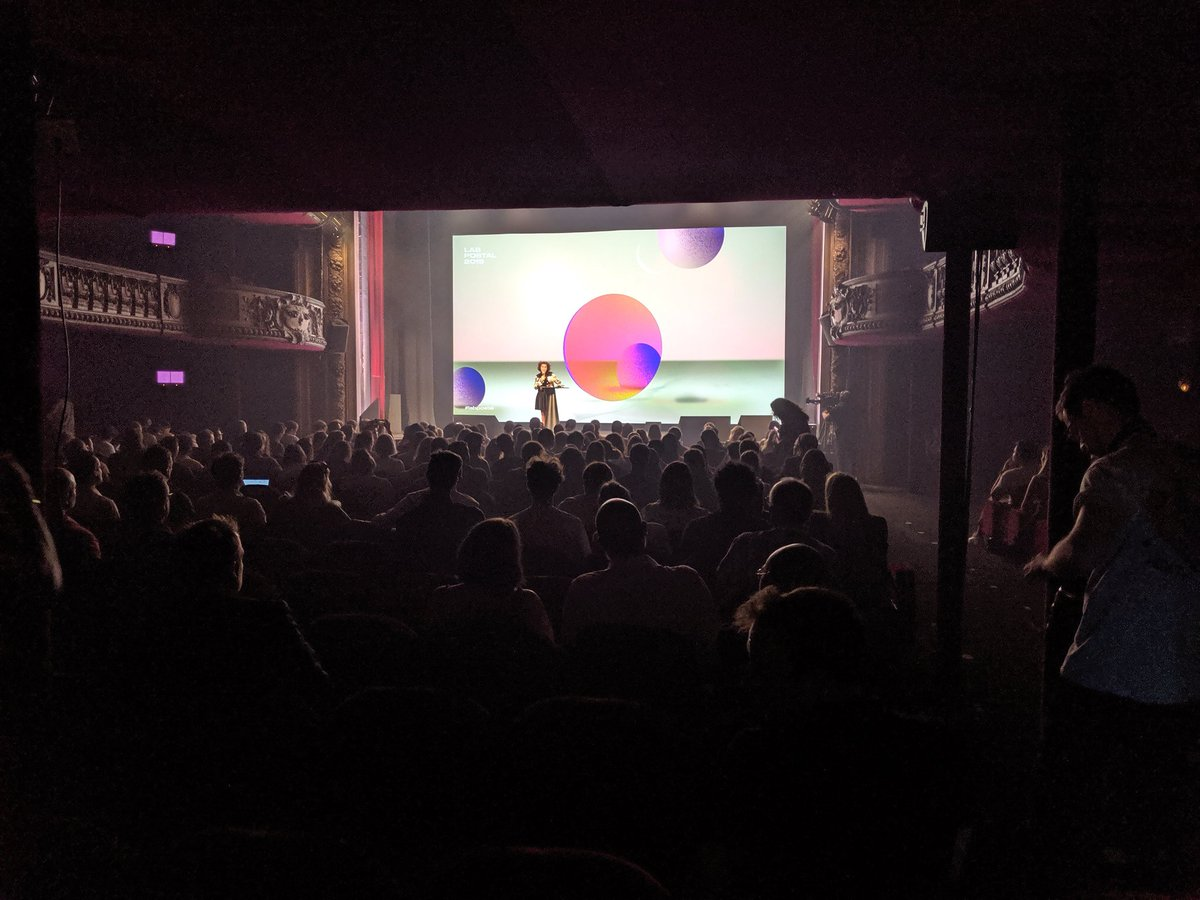 Totally full house for the launch of the 10th anniversary #Labpostal staged by @yellowbylaposte 💪. Heres @nathqueencole kicking off our awesome talks in the @LeTrianonParis 🚀 Join us for Day 2 tomorrow! #Ignition #concerence #talks #paris #event #space #liftoff