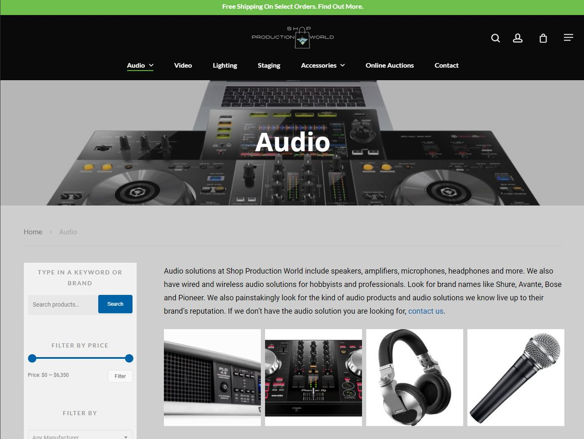 Hey, we just created a new production gear shop online. Check out @SPW_gear   Shop Production World. #production #audio #lighting #video #staging