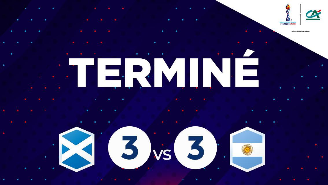 ÉCOSSE 🏴 3-3 ARGENTINE 🇦🇷 Menée 3-0, lArgentine arrache légalisation en un quart dheure. LEcosse est éliminée, lArgentine actuellement dans les quatre meilleurs troisièmes. #CôtéFoot #SportEcoleDeVie #FIFAWWC