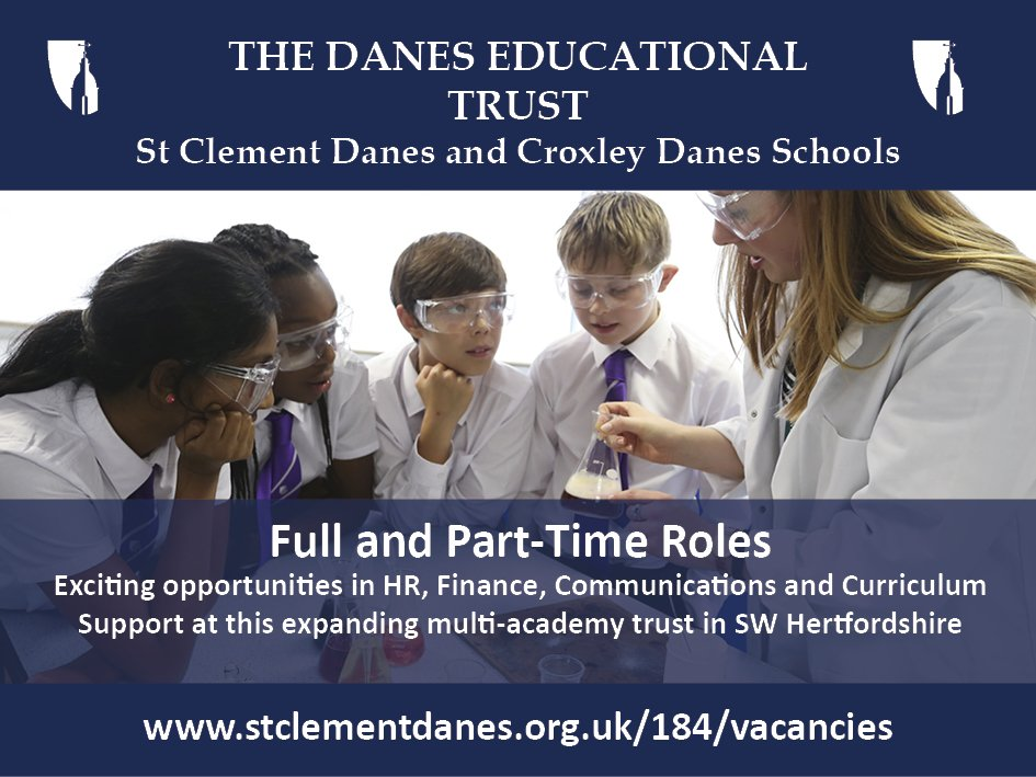 ICYMI: A range of part-time and full-time roles across HR, Finance, Communications and Curriculum Support are now being advertised. Join our growing team at our two schools in South West Hertfordshire. Details: https://t.co/YJzTKTpiRN https://t.co/3QqRB32VB2