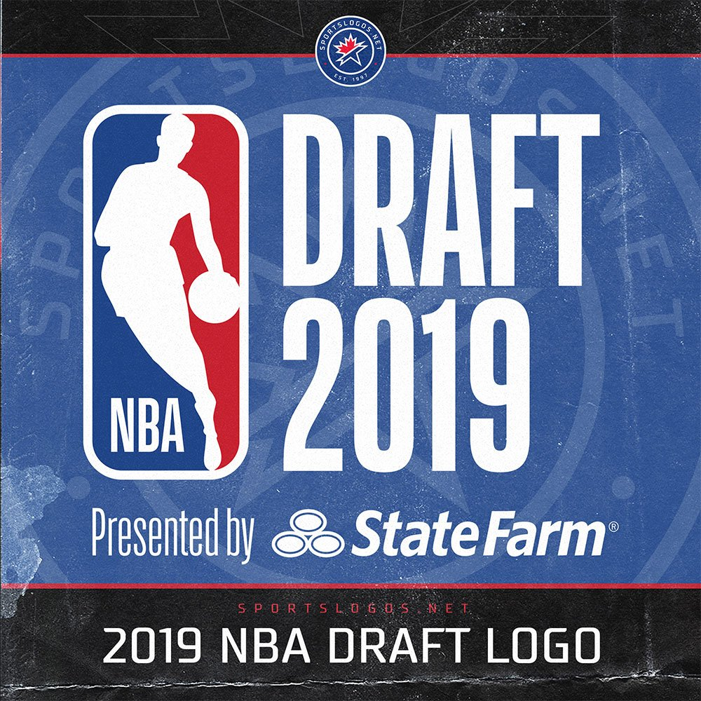 The 2019 #NBADraft is tomorrow night -- the official logo in various formats available here: sportslogos.net/logos/list_by_…