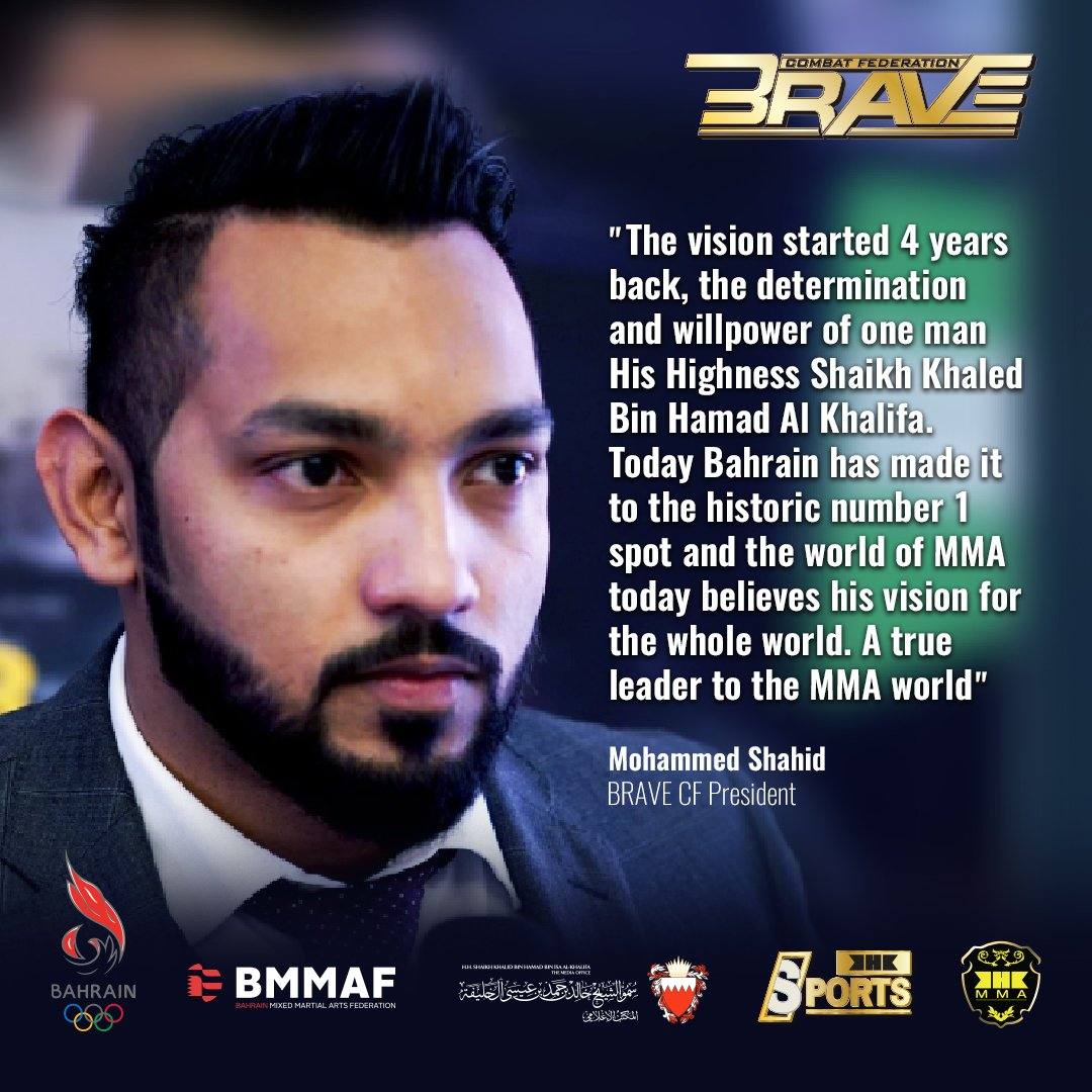 The game of Mixed Martial Arts is changing. It's a whole new BRAVE world. #BRAVECF #MMA #Bahrain