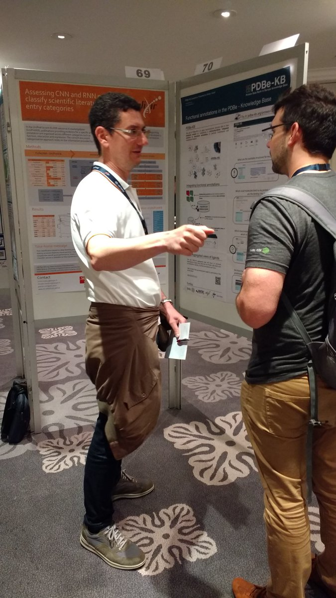 The poster session is in full swing, you can view the posters in rooms Casablanca (no. 1-60) and Los Angeles (no. 61-96). #ELIXIR19