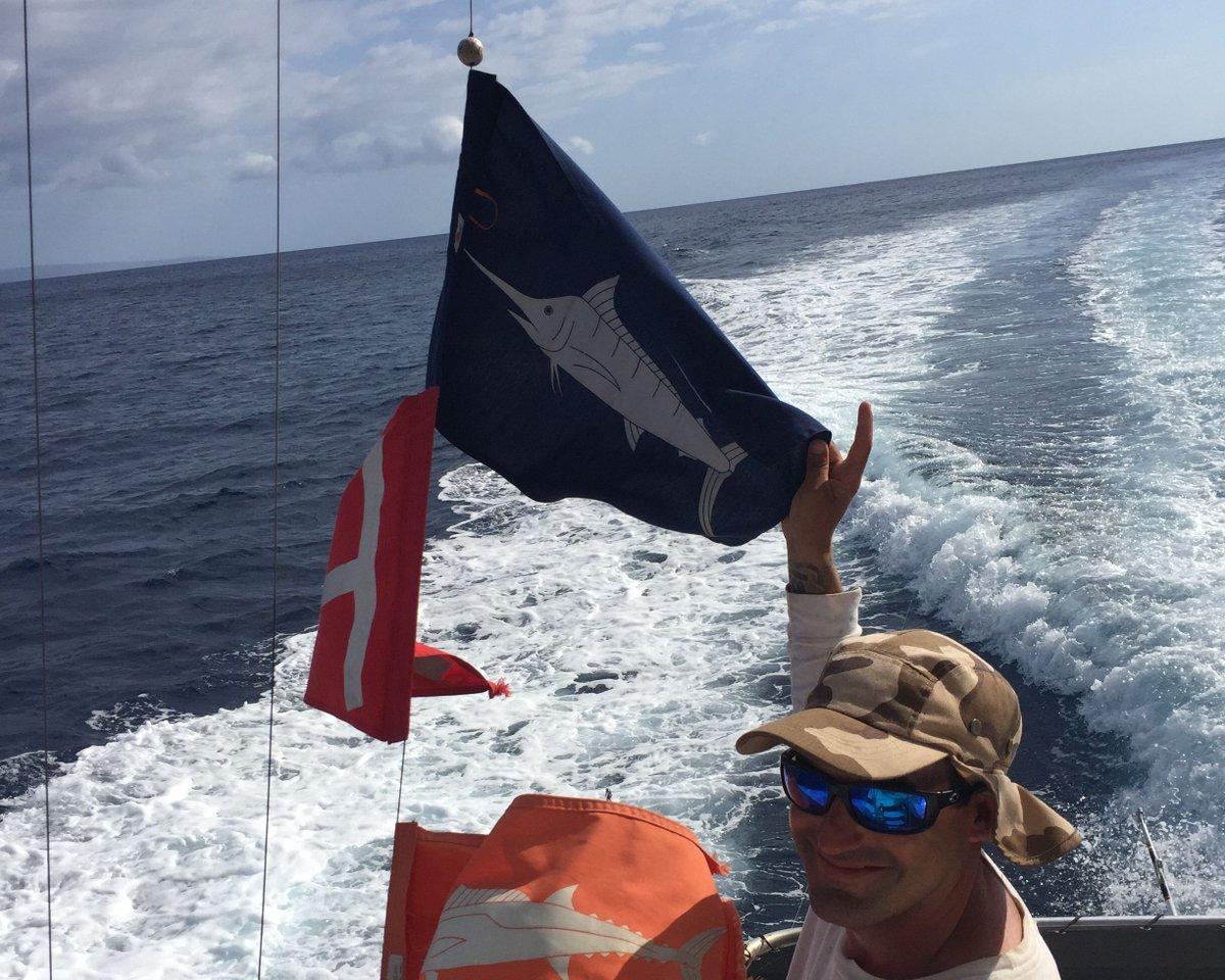 Maui, HI - Capts. Kamal Pfeifle & Chris Serra on Rascal went 1-2 on Blue Marlin.
