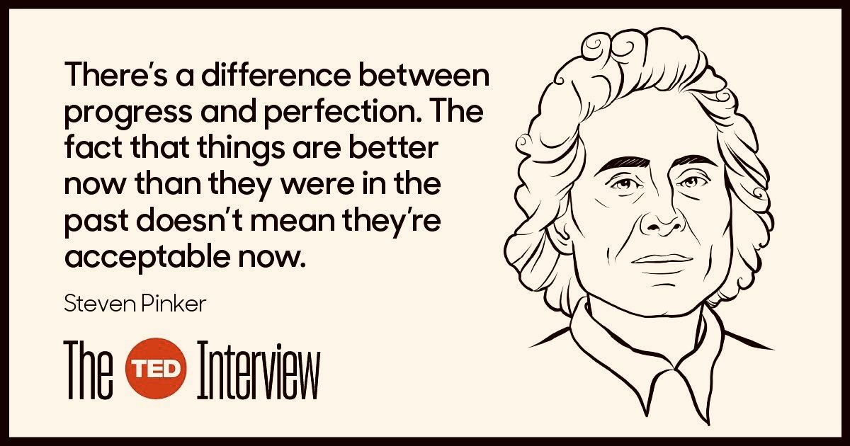 Here's a throwback to #TheTedInterview season 1 podcast with Steven Pinker were he argues that our 'pessimism about today's world is profoundly wrong'. Do you agree?Listen now😊https://buff.ly/31FtFnb #tedxglasgowcaledonianuniversity #thetedinterview #Wednesday #stevenpinker