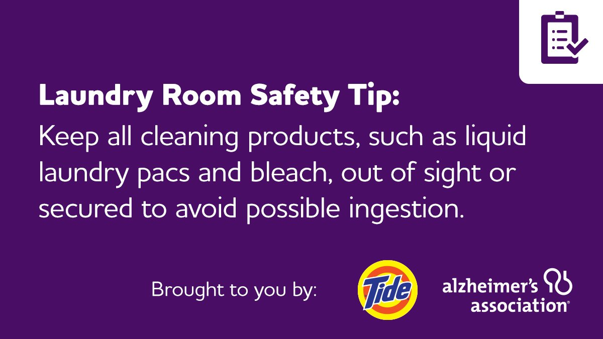 June isn't just Alzheimer's & Brain Awareness Month, it's also #NationalSafetyMonth. Get room-by-room tips on how to keep those living with dementia safe with our Home Safety Checklist, developed in collaboration with @tide.  http:// alz.org     #ENDALZ<br>http://pic.twitter.com/zjNjpGDSjr