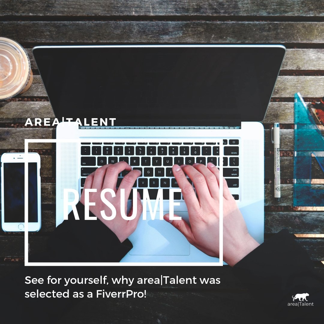 See why area|Talent is hand-picked to be a FiverrPro resume writer. Visit  https://www.areatalent.net/resumes . #recruiter #recruiting #humanresources #hr #talentmanagement #shrm #resume #fiverrpro #losangeles #tweetmyjobs #jobs #follow #hiring #staffing #culture #areatalent #socal