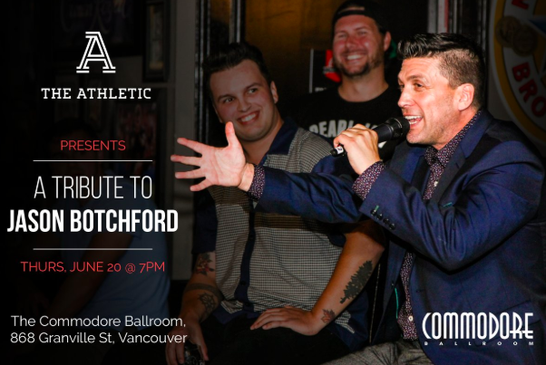Will be moderating a panel that includes @PierreVLeBrun, @tsnjamesduthie, @mirtle & @TSNBobMcKenzie at our tribute to Jason Botchford on Thurs. If youre in Vancouver, would love it if you joined us. Purchase tickets here, all proceeds to Jasons family: facebook.com/events/2443791…
