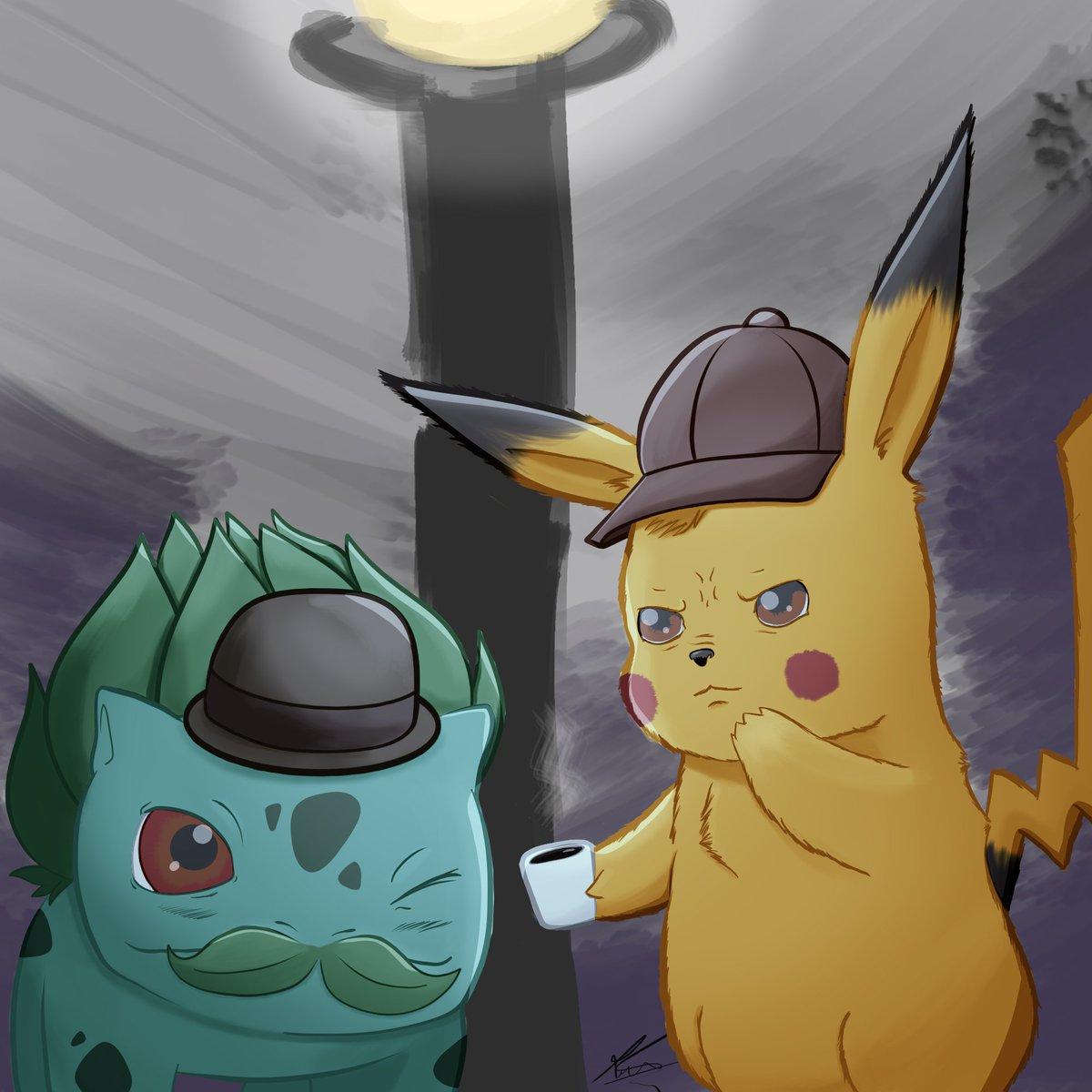 Kinda late, been really busy with studies lately, but here it is! Detective Pikachu and his Assistant Bulbasaur! #doodle #illustration #desenho #art #arte #fanart #artedefa #ilustração #pikachu #detetivepikachu #detectivepikachu #film #pokemon #anime #ryanreynolds #nintendo