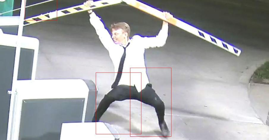 GATE HATE: An exit gate in a parking garage in @HaymarketLNK was kicked, pulled, twisted and hit by this man. Do you know him?! -over $3200 in damages.