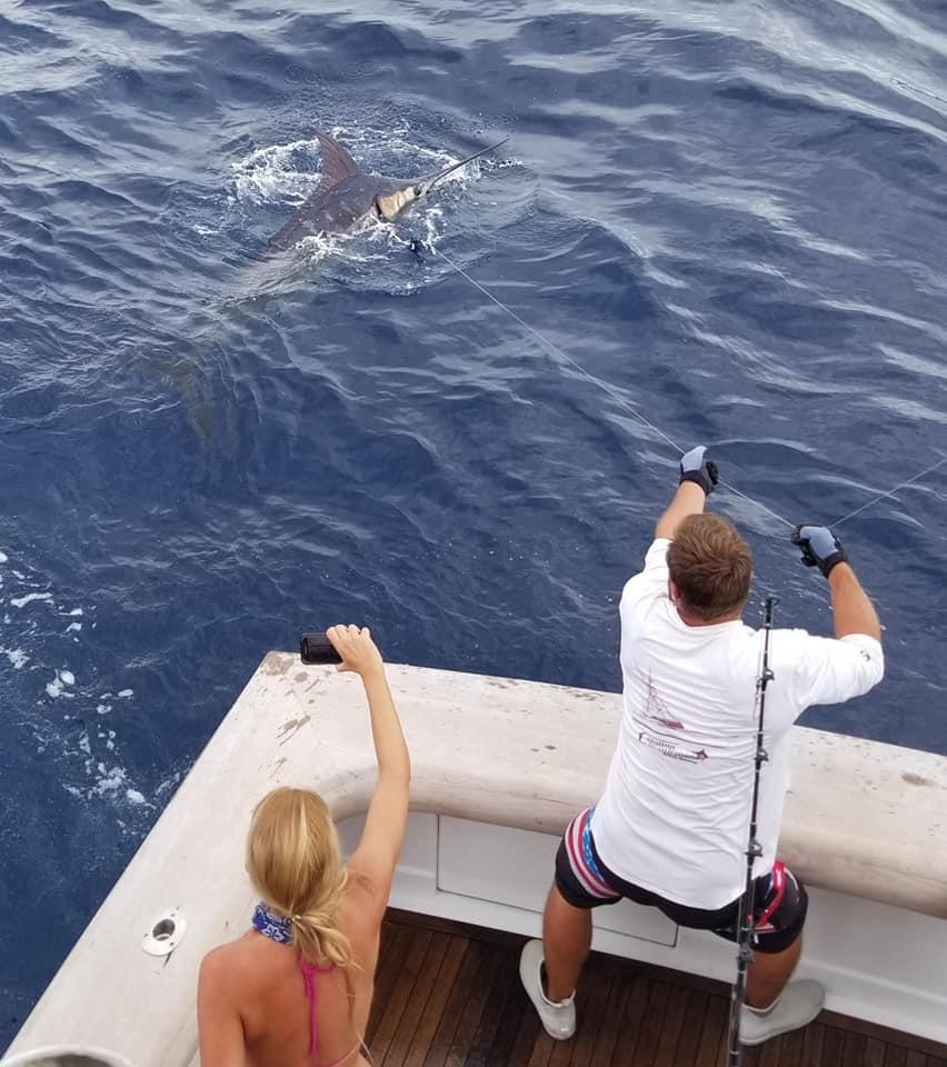 Andros, Bahamas - Carolina Gentleman went 1-2 on Blue Marlin.
