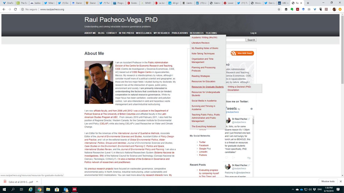 First of all, I am not 100% sure everyone realizes this, but my website's Resources pages has nested sub-pages. You can reveal the menus by hovering on the hyperlink. http://www.raulpacheco.org/resources