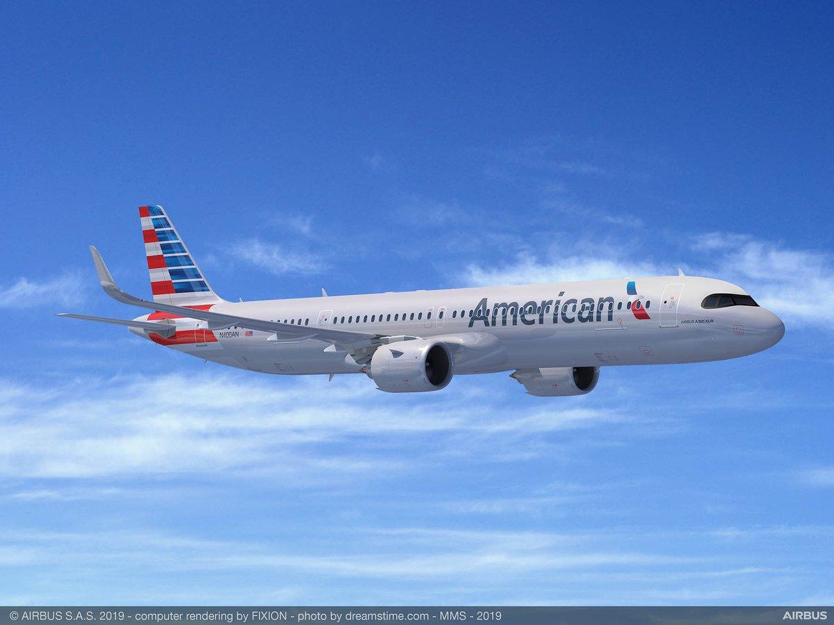 Bourget 2019 : American Airlines commande aussi des Airbus A321XLR http://dlvr.it/R6vkPx #PAS19 #Lebourget #PAS2019 #SIAE2019