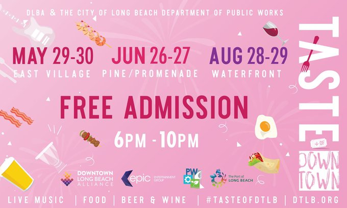 One week until #FoamFreeLB comes to the Taste of Downtown LB. Stop by to find out about the many restaurants to try at this event that are supporters of a #FoamFreeLB and made the switch from polystyrene containers. For more info on #FoamFreeLB, go to Longbeach.gov/FFLB