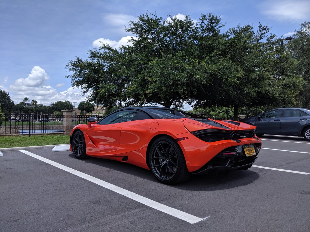 This photo was taken roughly 30 minutes after @McLarenAuto dropped off a bright orange 720S Spyder to drive and roughly 30 minutes before it started pouring rain. #FloridaMan