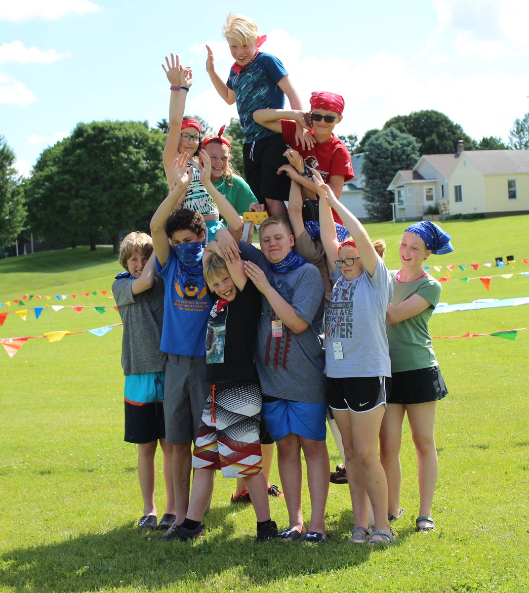 We made Vigelands Monolith together, and each posed as the Angry Boy, the Man Attacked by Babies, and the Woman Dancing and Holding her Hair. Its fun being statues! #NorwegianCamp #InspiredbyVigeland #Vigeland150 #LanguageCamp #SummerFun #SpringGroveMn