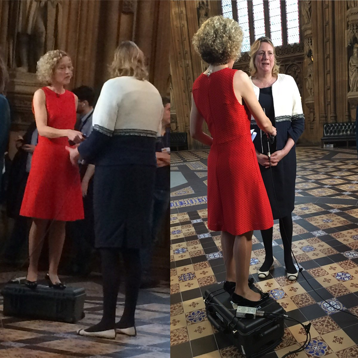 Had to resort to desperate measures to interview the very tall @Sandbach ! Grateful I could dispense with the box for my next guest @sajidjavid #conservativeleadership #C4News