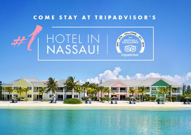 We are a TripAdvisor Certificate of Excellence Hall of Fame Award Winner and #1 on TripAdvisor for Nassau!  Thank you to all of our wonderful guests that shared their experiences. Hope to see you again soon.  #TripAdvisor #Nassau #Bahamas #SandyportBeachResort #hotels