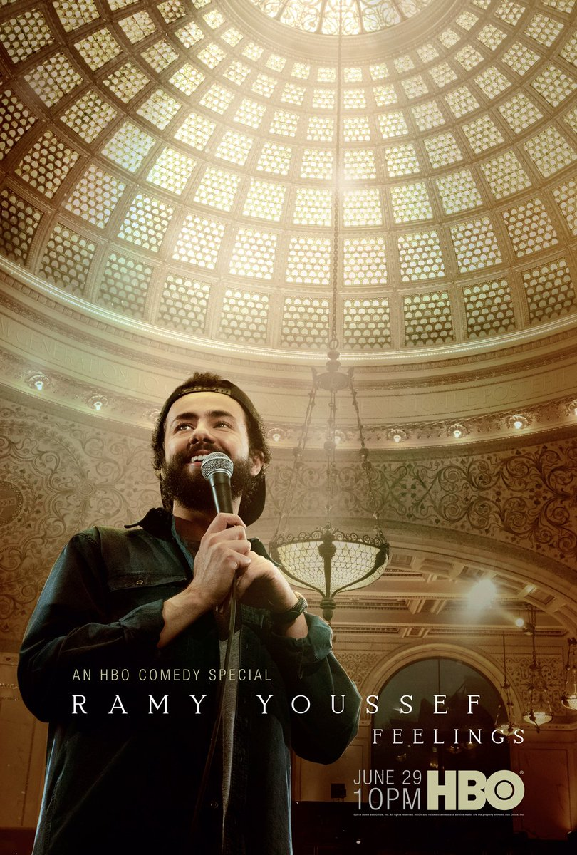 .@ramy Youssef: Feelings, an HBO comedy special, premieres June 29 at 10PM.