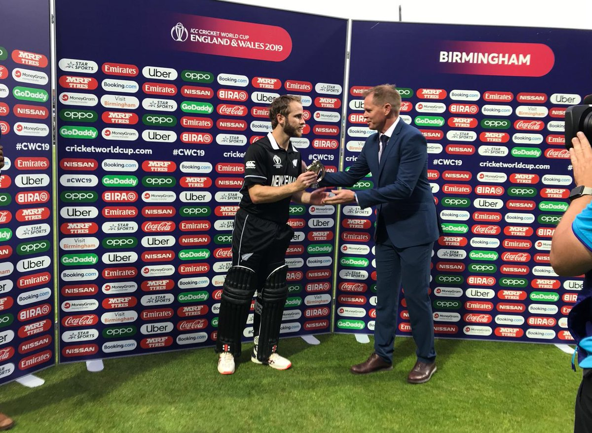 Your player of the match 🥇Captain Kane Williamson #CWC19 #NZvSA #BACKTHEBLACKCAPS
