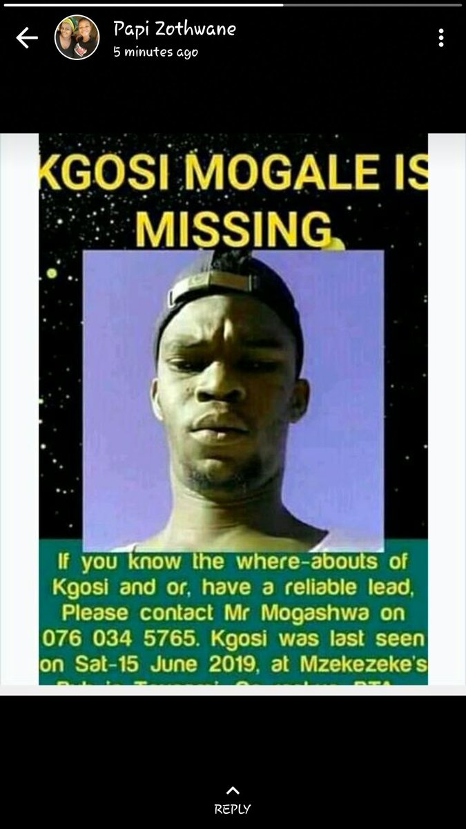 Please help find Kgosi  #MissingPersonAlert #MissingPerson <br>http://pic.twitter.com/1N2SwehoLD