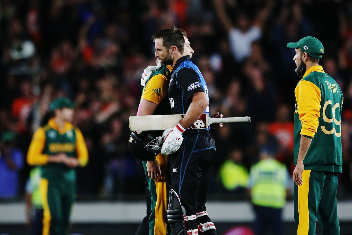 New Zealand vs South Africa in the ICC World Cup:▪  2011:  🇳🇿 eliminated 🇿🇦 by winning the Quarter Final...▪  2015:  🇳🇿 eliminated 🇿🇦 by winning the Semi Final...▪  2019:  🇳🇿 eliminated 🇿🇦 by winning the Virtual Knockout match...#NZvSA #CWC19