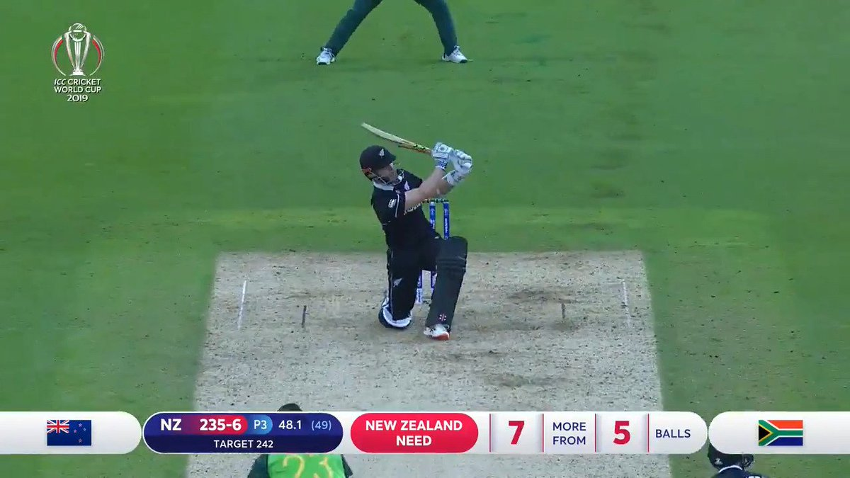 'Slower ball it is, six it is!'See Kane Williamson's instant classic and other super shots from New Zealand's innings#BACKTHEBLACKCAPS#NZvSA #CWC19