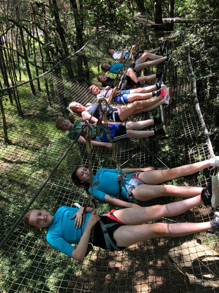 Fun at the high ropes today! #FranceResilienceCamp2019