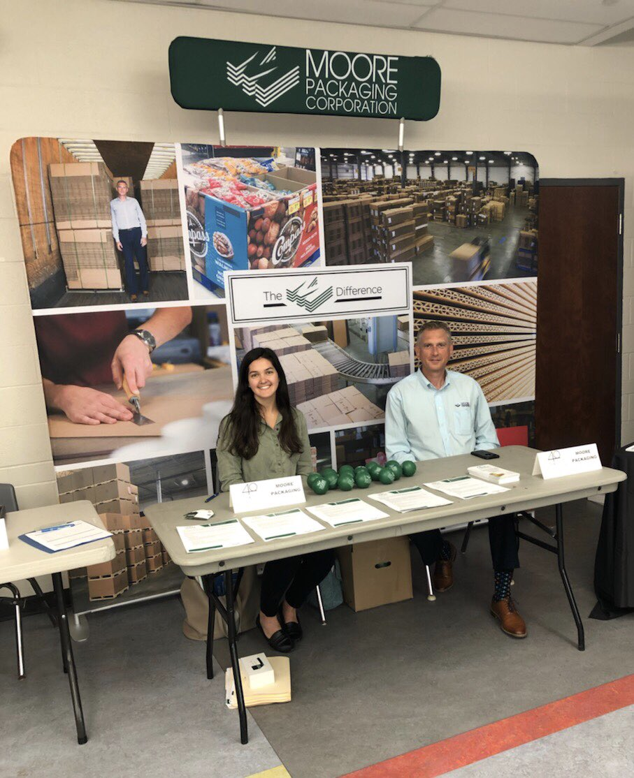 Drop by our booth at the Barrie Manufactures Job Fair! @investbarrie @georgiancollege #supportlocal #moorepackaging #barriejobs