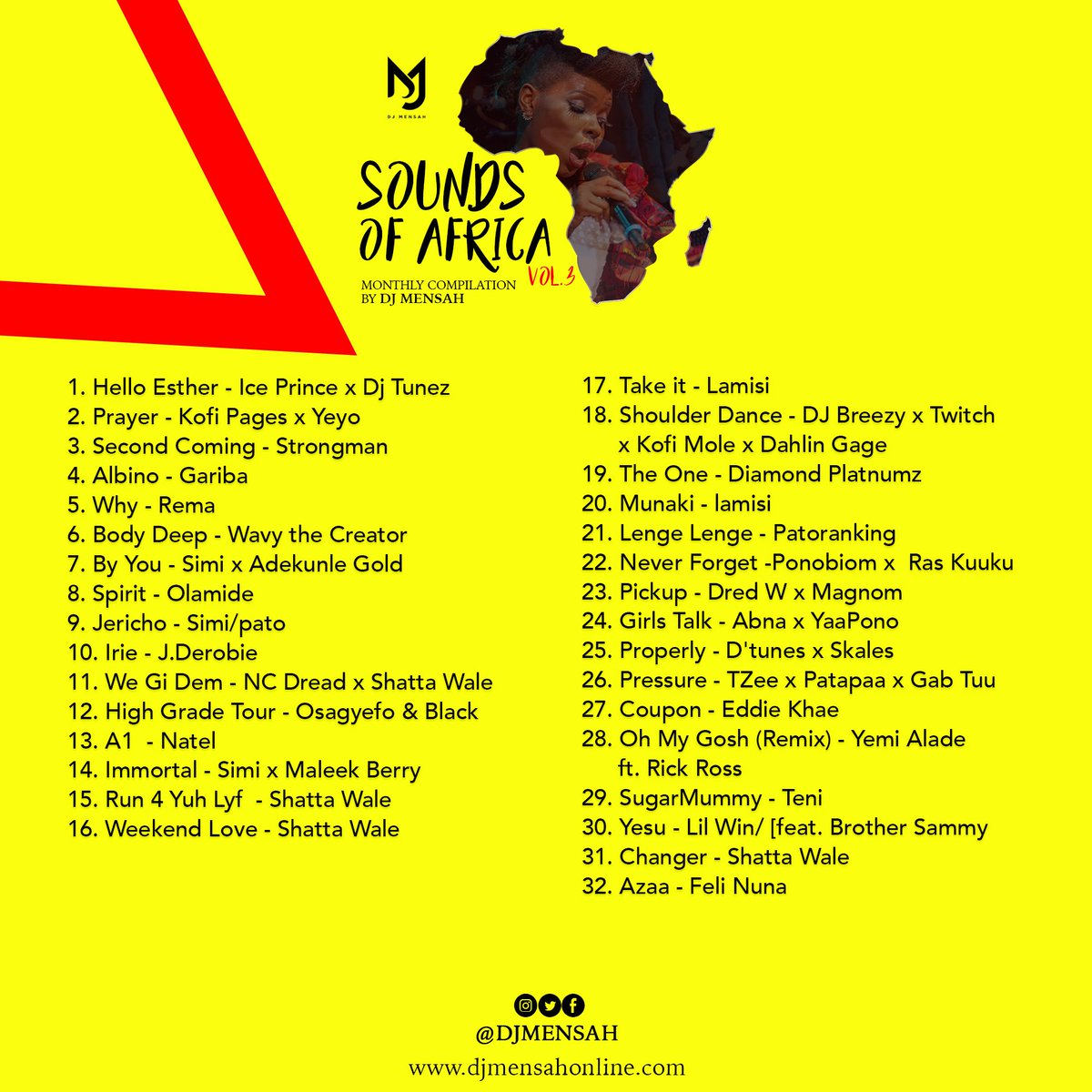 31.Changer - @shattawalegh   https://soundcloud.com/dj_mensah/sounds-of-africa-vol-3/s-K6hhn…  https://podcasts.apple.com/gh/podcast/sounds-of-africa-vol-3-march/id1466720746?i=1000441977281…  #SoundsOfAfrica19 #MonthlyCompilation #SOA #ThisIsNotAMixtape #VacWithDjMensah19