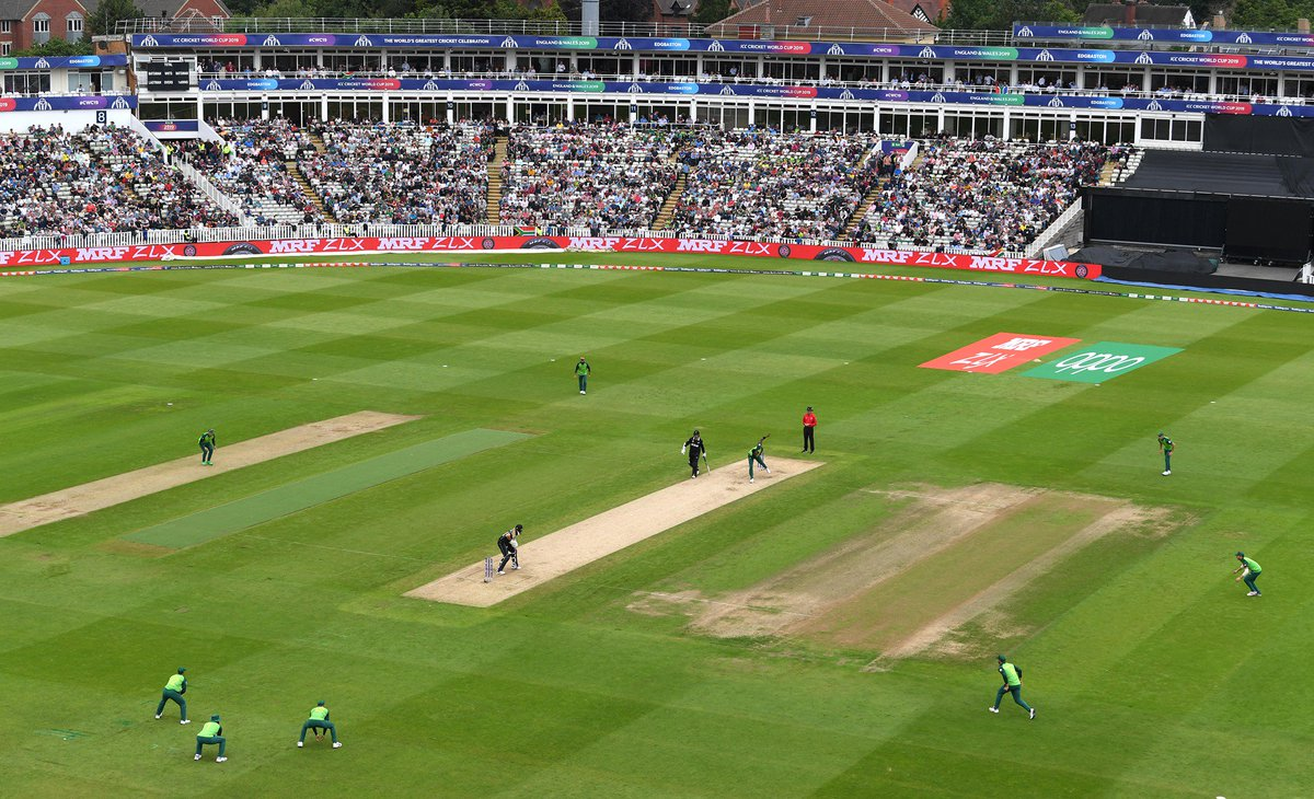 ∙ 5 inches of rain fell in the 10 days before the match∙ An additional 1/3 of an inch fell overnight∙ Average rain fall in June in Birmingham is 2.2 inchesWhat an effort from @barnstonworth and his team! Superb! 👏#Edgbaston #CWC19 #NZvSA #ProteaFire #BackTheBlackCaps