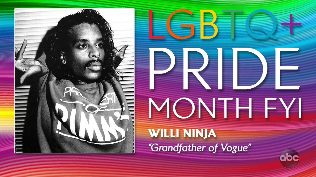 We're honoring who many people call the grandfather of voguing, Willi Ninja! He became a global sensation when he appeared in the award-winning documentary 'Paris is Burning' and even helped inspire Madonna's hit 'Vogue'! Today we salute him as our #PrideMonth FYI!