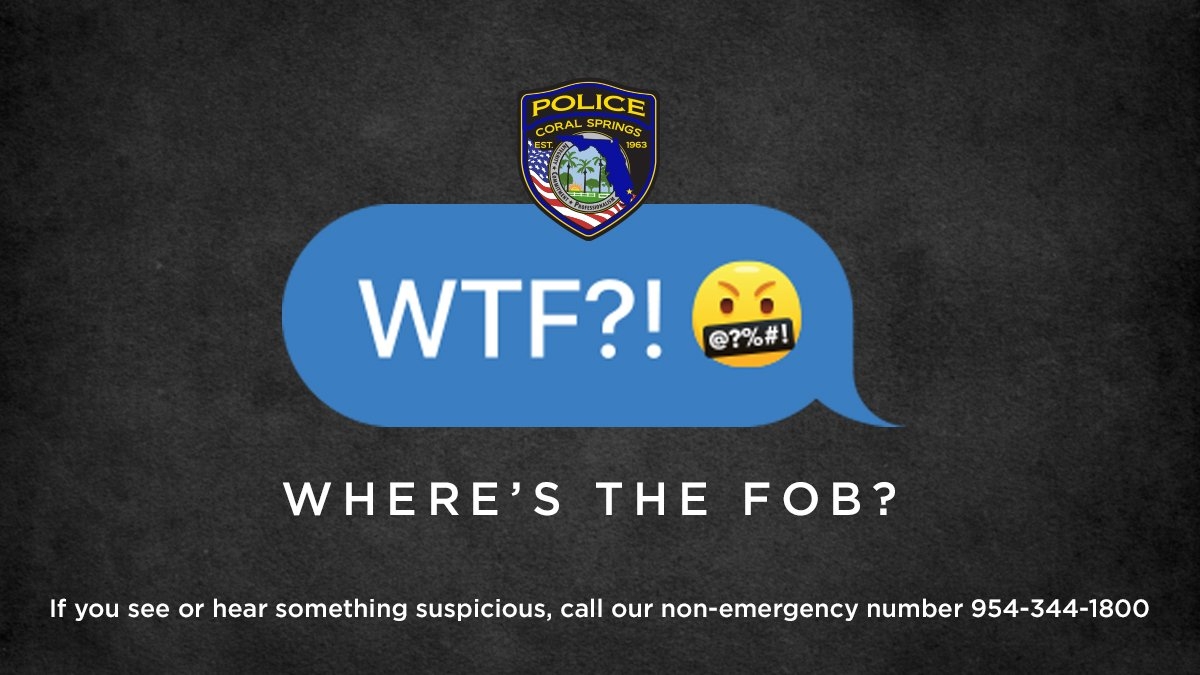 Coral Springs Police on Twitter: