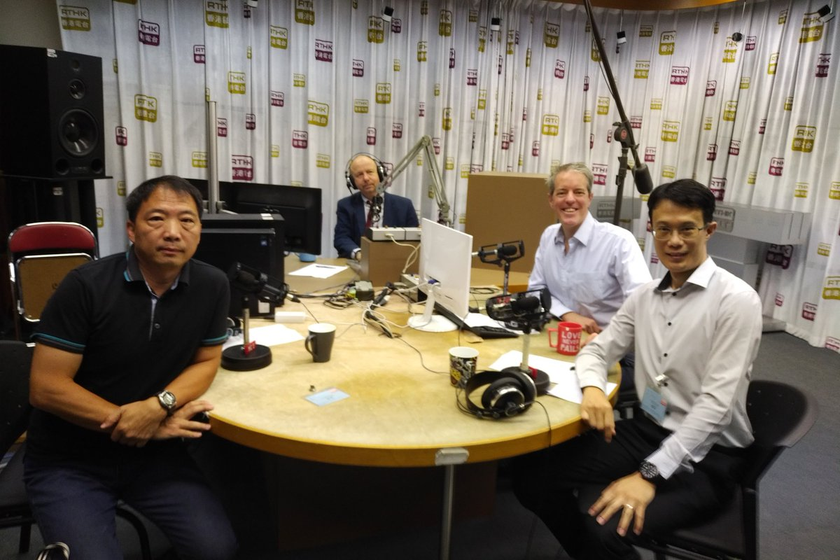 HT Editor-in-Chief @mrgandrewwork (2nd fm right) on @rthkradio3 @BackchatRadio3. #JoshuaWong on from 9:15am. AM 567. @jeffpao3  #NoToChinaExtradition #HongKong #antiELABhk #ExtraditionLaw